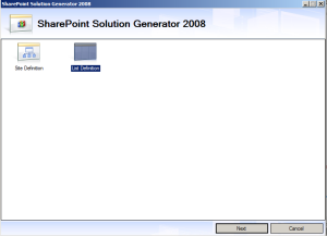 Sharepoint Solution Generator 2008