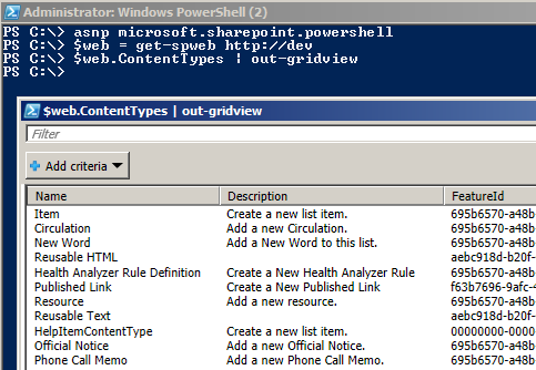 Out-Gridview in PowerShell | CHUVASH eu
