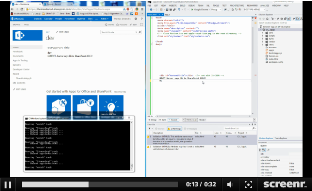 See the video how it looks like to develop using this approach